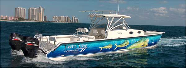 New power catamarans for sale twin vee power cats south for Catamaran fishing boats for sale